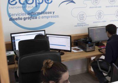 Interior de la oficina de ECOPE Informática